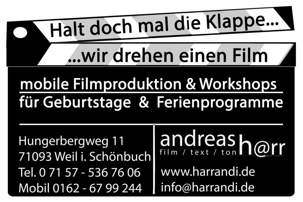 Visitenkarte Andreas Harr film-events