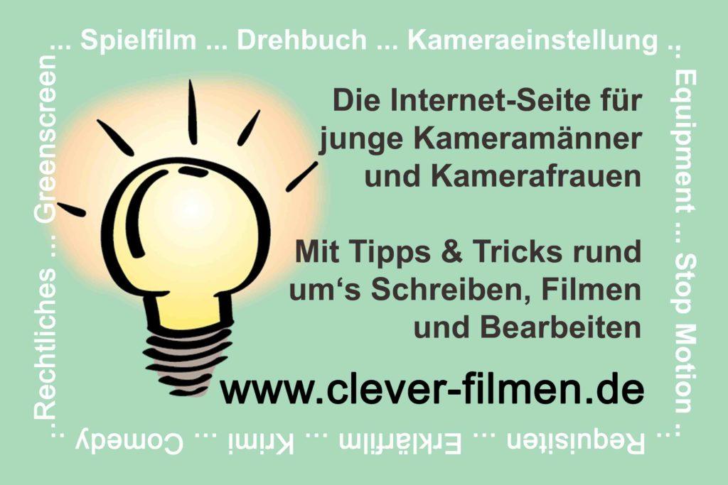 Visitenkarte Clever Filmen