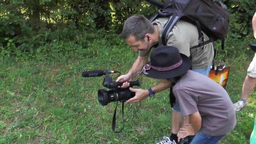 Andreas Harr erklärt Kameraeinstellung