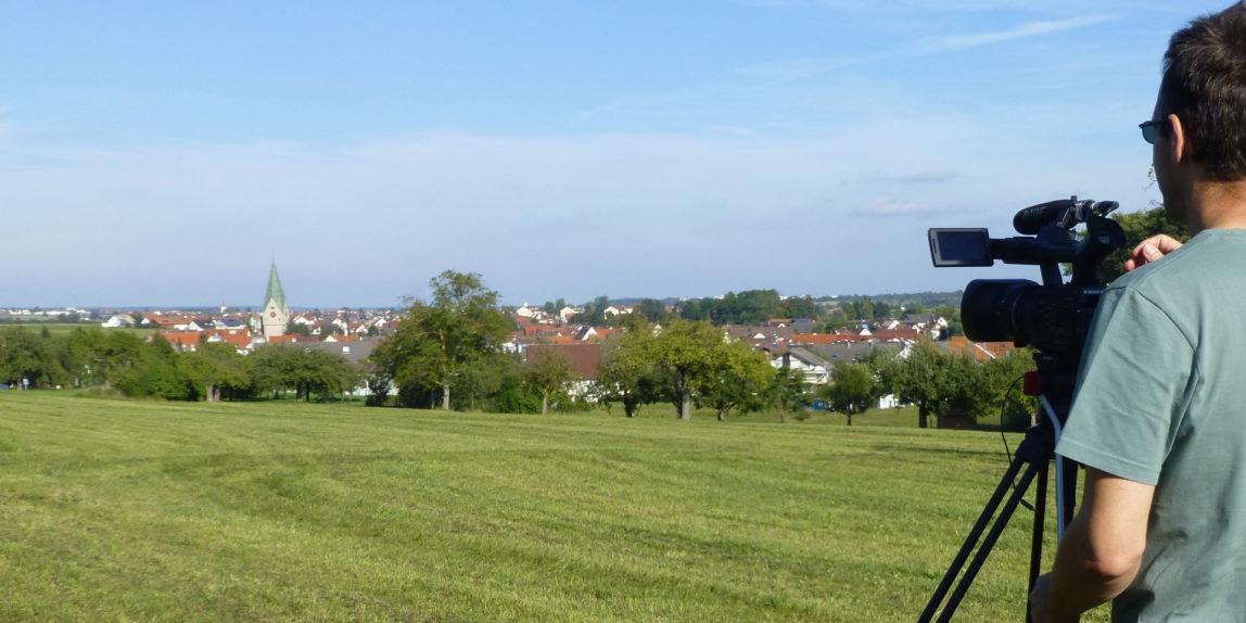 Andreas Harr bei den Filmaufnahmen